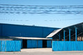 Blue warehouses Royalty Free Stock Photo