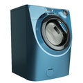 Blue Washing Machine Royalty Free Stock Images