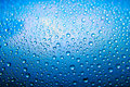 Blue water drops Royalty Free Stock Photos