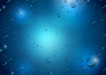 Blue water drops background with Stock Photo