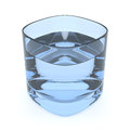 Blue Water Glass Royalty Free Stock Photo