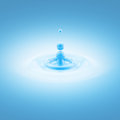 Blue water liquid drop abstract background and waves Royalty Free Stock Image