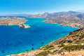 Blue water mirabello bay crete greece Stock Image