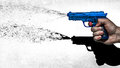 Blue Water Pistol Royalty Free Stock Photo