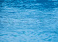 Blue water in the pool. Royalty Free Stock Photo