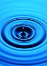 Blue Water Ripple Drop Royalty Free Stock Photo