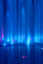 Blue water stream in fountain Stock Photos