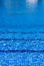 Blue water surface background in pool Stock Image