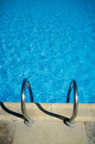 blue water in the swimming pool Royalty Free Stock Photo
