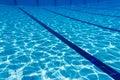 Blue water swimming pool underwater