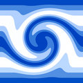 Blue water waves Royalty Free Stock Photo