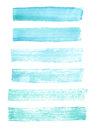 Blue watercolor grunge brush strokes.