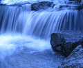Blue waterfall Royalty Free Stock Photo