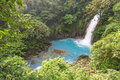 Blue waterfall in Costa rica Royalty Free Stock Photo