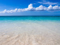 Blue waters of paradise relaxing in the grace bay in the island turks and caicos Stock Image