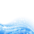 Blue wave abstract with bubble Royalty Free Stock Photo