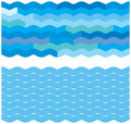 Blue wave backgrounds Royalty Free Stock Photos