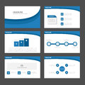 Blue wave Infographic elements icon presentation template flat design set for advertising marketing brochure flyer Royalty Free Stock Photo