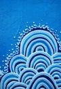 Blue Wave Motive Royalty Free Stock Photo