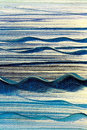Blue waves canvas background photo of painted on for an abstract Royalty Free Stock Photography