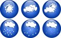 Blue weather icons Royalty Free Stock Photography