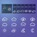 Blue weather widget and icons Stock Photography