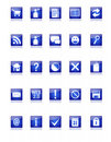 Blue Web and Blog Icons Royalty Free Stock Photos