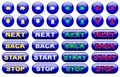 Blue web button set Royalty Free Stock Image