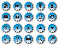 Blue web buttons Royalty Free Stock Photo