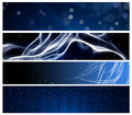 Blue web header and footer Royalty Free Stock Image