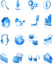Blue web internet icons Royalty Free Stock Photo