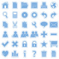 Blue Web Stickers Icons [1] Royalty Free Stock Photo