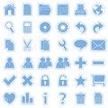Modrý pavučina samolepky ikony 1