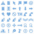 Blue Web Stickers Icons [2] Stock Photo