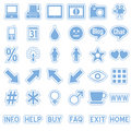 Blue Web Stickers Icons [4] Royalty Free Stock Photo