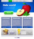 Blue Website Template Stock Photo