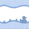 Blue and White Baby Frame Royalty Free Stock Photo