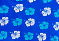 Blue and White Batik Fabric Royalty Free Stock Photography