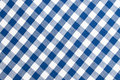 Blue and white cloth pattern Stock Photo