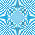Blue-white color burst background of light rays. Cartoon and comics style background. Vector illustration