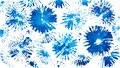 Blue white cornflower background. Fan brush stains.
