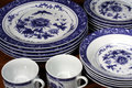Blue and White Dinnerware Royalty Free Stock Photography