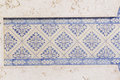 Blue and White Glazed Tiles Royalty Free Stock Photo