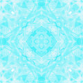 Blue White Kaleidoscope Stock Photos