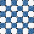 Blue and white marble square floor tiles seamless pattern texture background Royalty Free Stock Photo