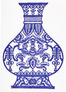 Blue and white porcelain Royalty Free Stock Photo