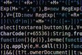 Program Code on Screen Royalty Free Stock Photo