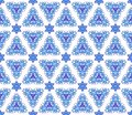 Blue on white seamless arabesque Royalty Free Stock Photos