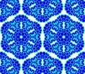 Blue on white seamless honeycomb arabesque Stock Images