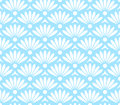 Blue and white seamless pattern with abstract flowers Stock Image